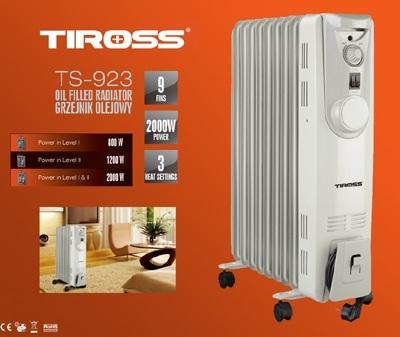 Lò sưởi dầu 9 thanh Tiross TS923
